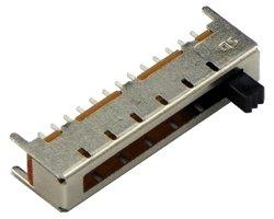画像1: スライドスイッチ(1回路12接点)