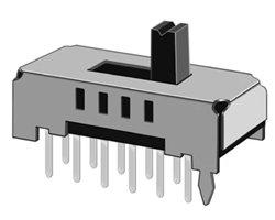 画像1: ★2回路4接点★スライドスイッチ(5個入)