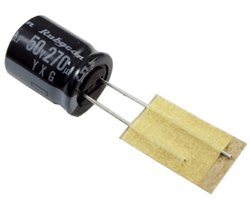 画像1: 国産電解コンデンサ(50V270uF)