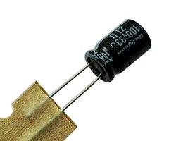 画像1: 電解コンデンサ(100V33uF)(5個入)