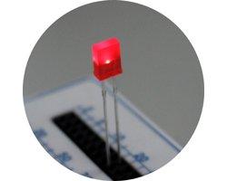 画像1: ★特売品★国産赤色角型LED(20個入)