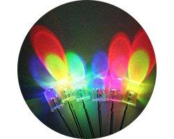 画像1: ★特売品★φ8★7色点滅LED(20個入)