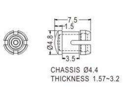 画像2: シャーシ取付対応LEDスペーサー(φ3mm)(20個入)