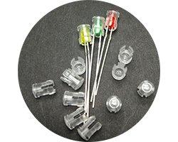 画像1: シャーシ取付対応LEDスペーサー(φ3mm)(20個入)