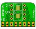 SIL変換基板(0.65/2.54-8P)(3枚入)