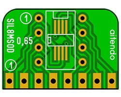 画像1: SIL変換基板(0.65/2.54-8P)(3枚入)