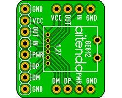 画像1: 極小GPSモジュール変換基板