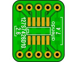 画像1: ピッチ変換基板(1.27/10P)(4枚入)