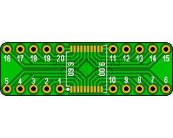 画像1: ピッチ変換基板(0.65/20P)(2枚入)