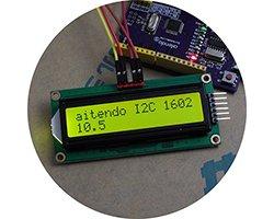 画像1: I2C/SPIキャラクタ液晶モジュール(16x2)
