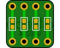 画像1: SMD変換基板(10枚入)