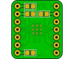 画像2: ピッチ変換基板(0.5/14P)(2枚入)