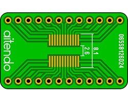 画像1: ピッチ変換基板(0.65/24P)(2枚入)