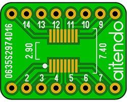 画像1: ピッチ変換基板(0.635/16P)(3枚入)