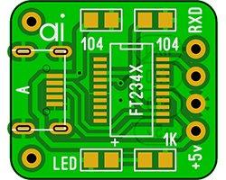 画像1: USB-UART基板(3枚入)