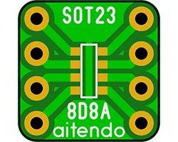 画像1: ピッチ変換基板(SOT23-8)(10枚入)