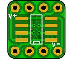画像1: オペアンプ変換基板(1.27/8P)(8枚入)