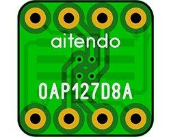 画像2: オペアンプ変換基板(1.27/8P)(8枚入)