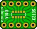 ピッチ変換基板(SOT23-10)(5枚入)