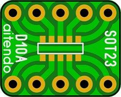 画像1: ピッチ変換基板(SOT23-10)(5枚入)