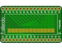 画像1: ピッチ変換基板(1.0-2.54/34P)