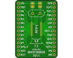 画像1: USBハブチップ変換基板