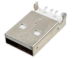 画像1: USBコネクタ(A/オス)