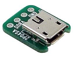 画像1: マイクロUSBコネクタwith基板