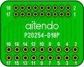 ピッチ変換基板(2.0-2.54/18P)(2枚入)