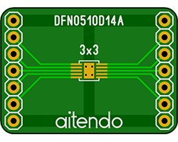 画像1: ピッチ変換基板(0.5/10P)