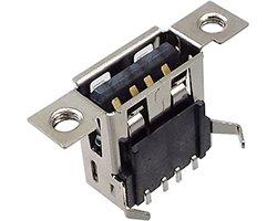 画像1: ★A/メス★シャーシ取付対応USBコネクタ