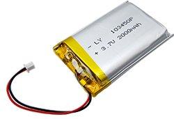 画像1: リチウムポリマー電池(3.7V/2000mAh)