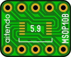 画像1: ピッチ変換基板(0.5/10P)(8枚入)