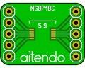 ピッチ変換基板(0.5/10P)(4枚入)