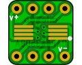 オペアンプ変換基板(0.635/8P)(8枚入)