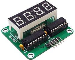 画像1: シフトレジスタ4桁表示器キット