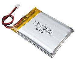 画像1: リチウムポリマー電池(3.7V/900mAh)