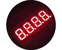 画像2: ★0.36★4桁7セグLED表示器(赤色)