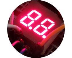 画像1: ★特売品★2桁7セグLED表示器(赤色)