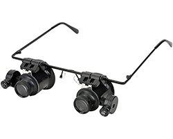 画像1: メガネ型LED拡大鏡