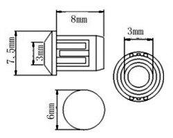 画像3: ★φ3★シャーシ用LED指示灯ソケット(20個入)