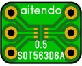 ★SOT-563★ピッチ変換基板(10枚入)