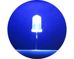 画像1: ★特売品★φ5mm青色LED(20個入)