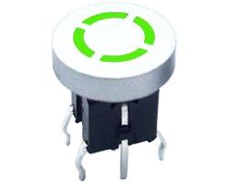 画像1: ★6x6★LED装着可能なタクトスイッチ(5個入)